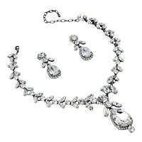 Timeless Clear Crystal Color Rhinestone Necklace/Earring Set