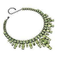 Varuca Salt Jonquil Color Rhinestone Necklace/Earring Set