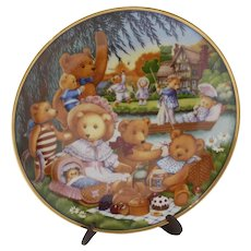 "Vintage Franklin Mint Collector's Plate ""A Teddy Bear Picnic"""