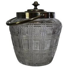 Percival & Vickers  Press Glass Biscuit Jar