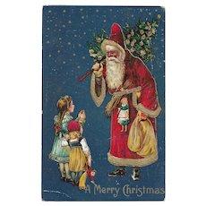 Antique 1908 Christmas Postcard Postmarked Dec 25 1908