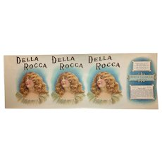 Della Rocca  SPIETZ Cigar Co. Maker Label State of Michigan