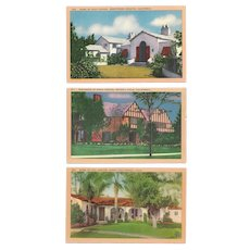 (10) Homes of Hollywood Famous Postcards UNUSED