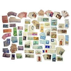 655 Vintage Postage Stamps Theme: Various Mix