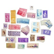 125 Vintage Postage Stamps Theme: Women of History