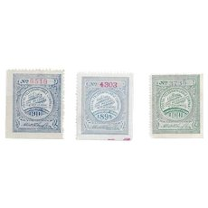 Antique Telegraph-Cable stamps- 1898-1901