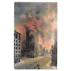 Antique 1906 San Francisco Earthquake Postcard Postmarked 1910 Used