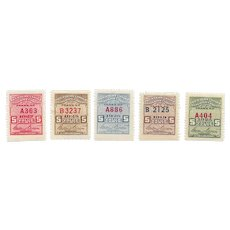 Vintage Western Union Telegraph Co. 5 cent stamps