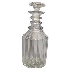 Antique glass decanter, George III