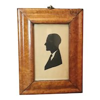 Antique Birds eye Maple frame with Edwardian silhouette
