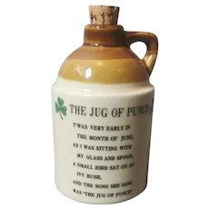 Vintage stoneware jug , St Patrick
