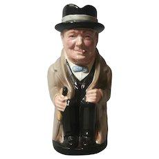 Vintage Toby Jug, Royal Doulton, Winston Churchill