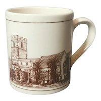 Vintage Scottish stoneware souvenir mug
