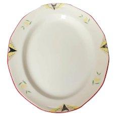 Vintage 30'S Serving Platter / Meat Plate, Art Deco Design, Dated Empire Ware, Ivory Glaze