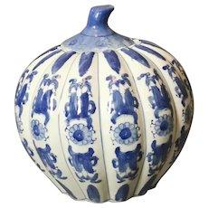 Chinese Blue And White Kitchen Jar, Pumpkin, Ginger Jar, Kitchen Storage