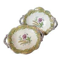 Antique Victorian bread plates, serving plates