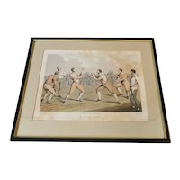 Antique hand coloured print by Henry Alkin after Clark.