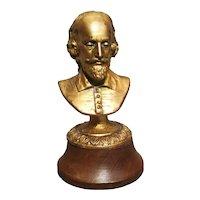 Antique desk bust of Shakespeare