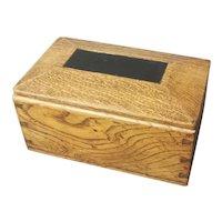 Antique tea caddy, Edwardian, wood