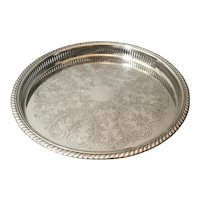 Vintage Art Deco Silver Plated Gallery Tray