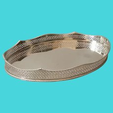 Gorgeous Vintage Art Deco Silver Plated Gallery Tray