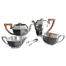 Art Deco Silver Plate Tea & Coffee Set