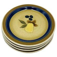 Vintage PREMIER Potterskraft Country Home P5028 Set of 4 Salad Plates