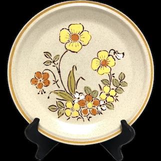 Set of 4 4 Hearthside Garden Festival Stoneware Dinner Plates SUNSHINE FLOWERS Japan