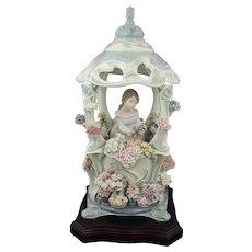 Lladro Figurine 1865 Gazebo in Bloom Limited Edition