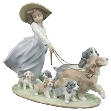 Lladro Figurine Puppy Parade Model 6784 - Boxed - Professionaly Restored
