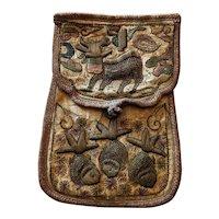 18th Century Needlework Coin purse