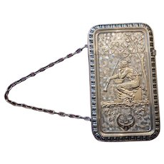 Late 19th Century Sterling Card Case With Chain