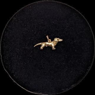 14kt Yellow Gold Dachshund Charm