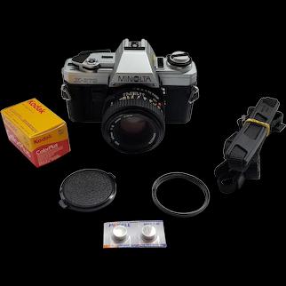 Minolta X-370 Film Camera with 50mm 1:2 lens Japan made + New light seals