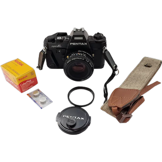 Pentax Super A film camera with 50mm 1:2.0 lens near mint+ new light seals