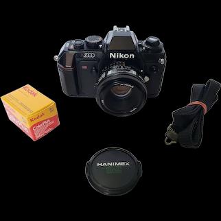 Nikon N2000 AF Film Camera + 50mm 1.8 AF Lens + 1 Roll of Film