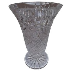 Vintage Lead Crystal Vase - Very Heavy