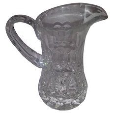 Vintage Small Cut Glass, Lead Crystal Pitcher - Used for Honey and Syrup or Large Creamer Server