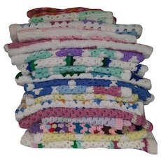 Vintage Hand Crocheted Blankets - Baby, Doll, Crib, Bassinet, and Lap Blankets - New - Many Colors