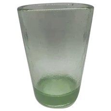 """FIRE & LIGHT 12oz Celery Tumblers Drinking Glass, Recycled Glass 4.5"""""""