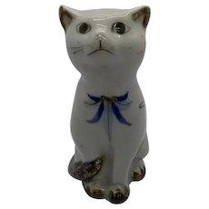 "Tonala Sitting Cat Hand Painted Signed El Palomar 5"""