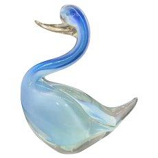 "Vetreria Artistica MURANO Italian Art Glass Sommerso Blue Bird Figurine - 8.5"" Large!"