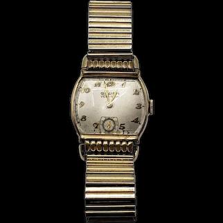 Vintage Gruen Veri-Thin Wristwatch with 10kt Gold Filled Bezel