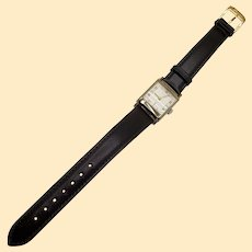 10kt Rolled Gold Plate Men's Elgin Wristwatch with Calf Skin Band