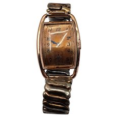 10kt Rolled Gold Plate Men's Heyworth Wristwatch with Clinton Movement