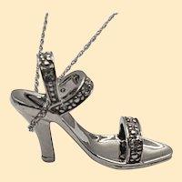 10kt White Gold Diamond High Heel Pendant from Zales