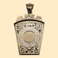 Antique Victorian 10kt Yellow Gold HTWSSTKS Freemason Royal Arch Pendant / Watch Fob