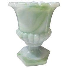Akro Agate Glass Urn