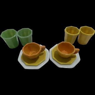 Akro Agate children's tea set