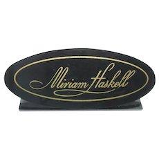 Rare Miriam Haskell Jewellery Display Show Case